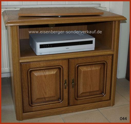 Fernsehschrank mit TV- Drehteller Rustica B:85cm H:73cm T:48cm Eiche rustikal