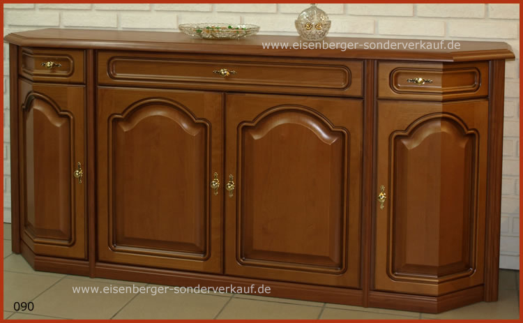 Anrichte Rustica B:183cm H:86cm T:48cm nussbaumfarbig cognac