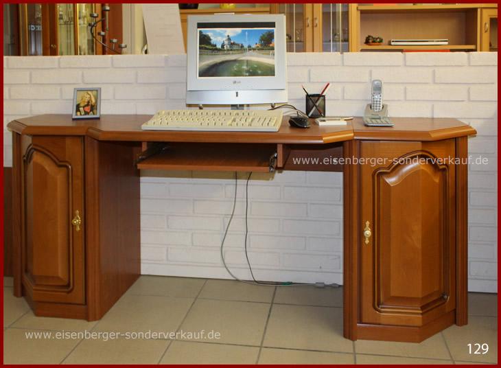 Schreibtisch Rustca B:183cm H:73cm T:53cm kirschbaumfarbig