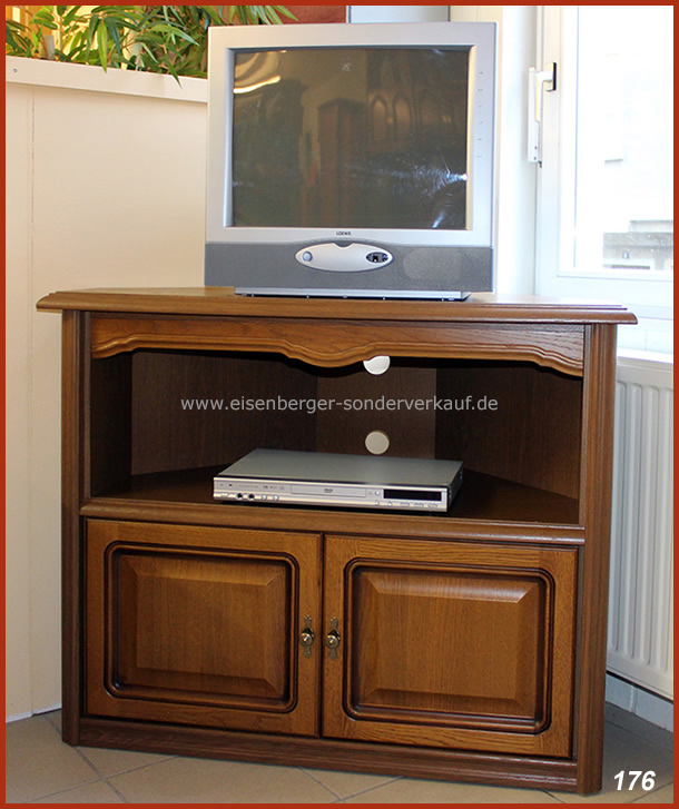 Fernsehschrank Ecke Rustica B:90x90cm H:86cm Eiche rustikal