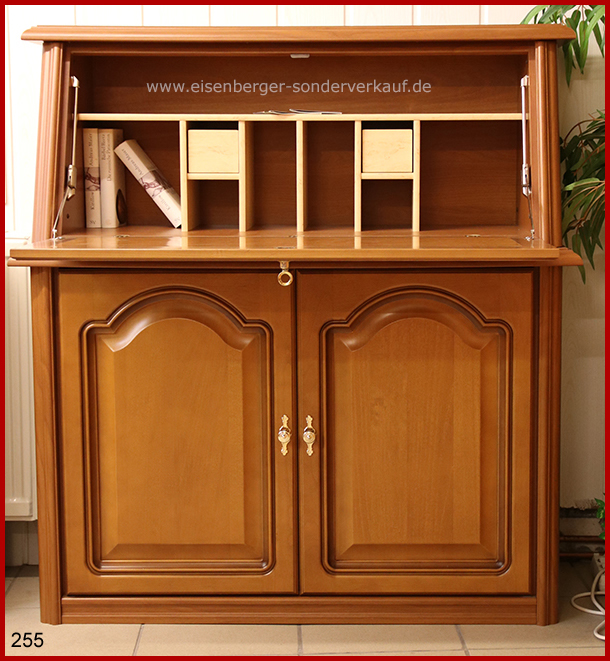 Rustica B:108cm H:116cm T:43cm nussbaumfarbig cognac, Sekretär