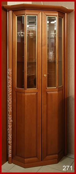 H:199cm B:/T:71cm Eck Vitrine Amica SV73E, kirschbaumfarbig